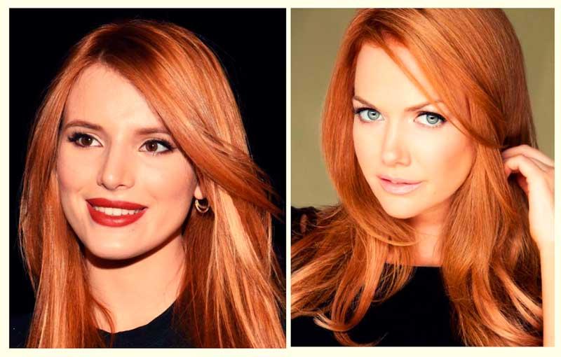 Rojo ladrillo pelo