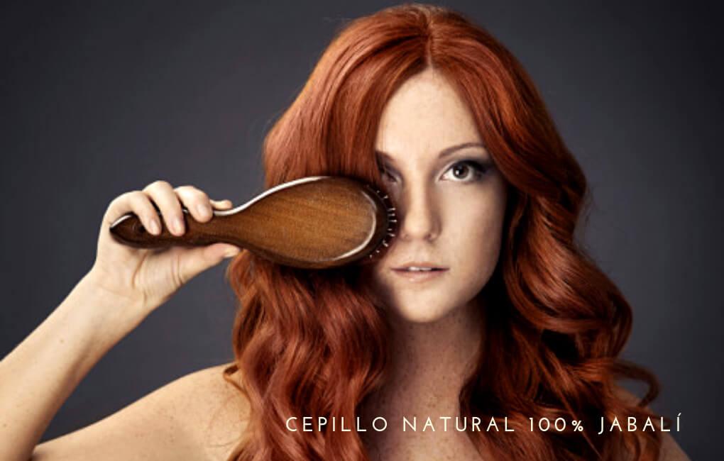 cepillo natural cabello